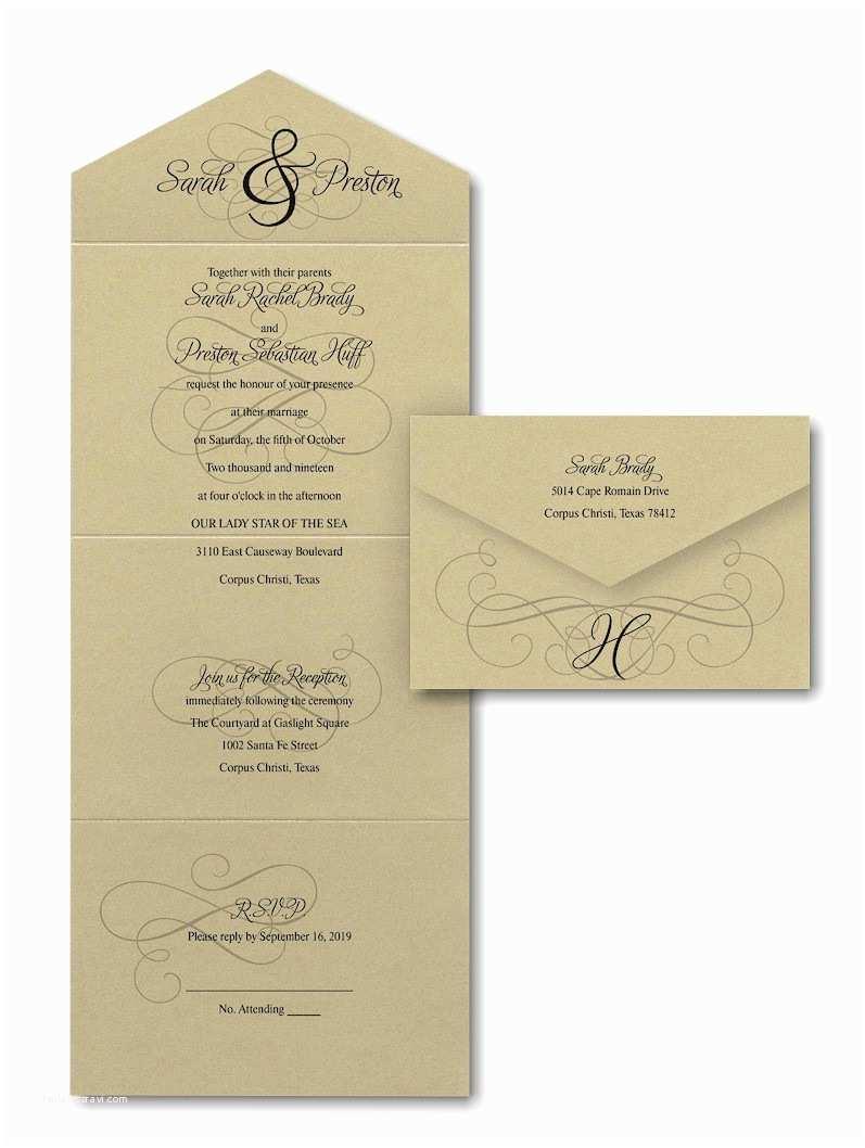 Seal and Send Wedding Invitations Ampersand Calligraphy Seal N Send Wedding Invitation
