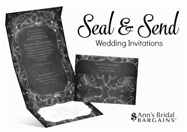 Seal and Send Wedding Invitations Cheap and Chic Wedding Invitations by Ann S Bridal