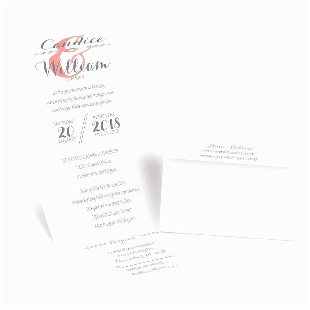 Seal and Send Wedding Invitations Distinct Style Seal and Send Invitation