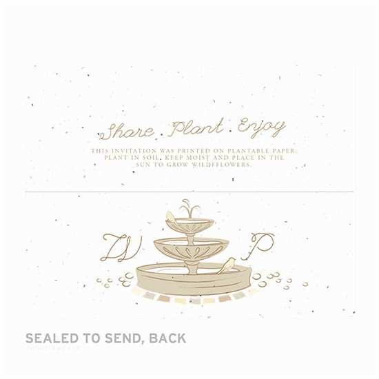 Seal and Send Wedding Invitations Park Birds Seal and Send Invitation