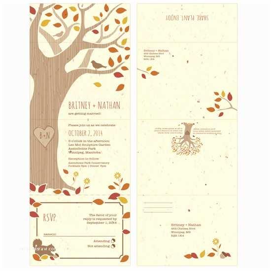 Seal and Send Wedding Invitations Rustic Tree Seal and Send Invitation