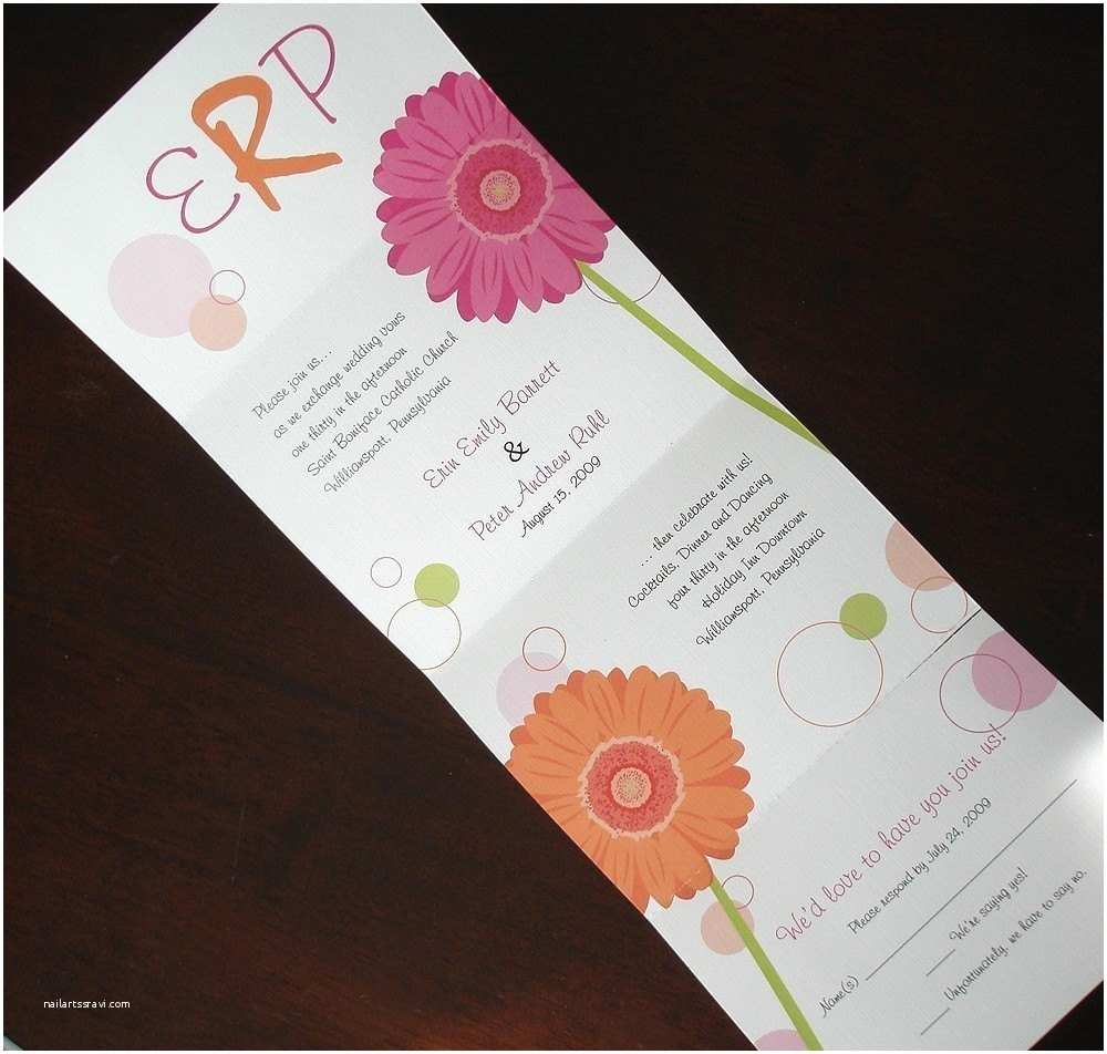 Seal and Send Wedding Invitations Seal and Send Gerbera Daisy Wedding Invitation Gerber Daisy
