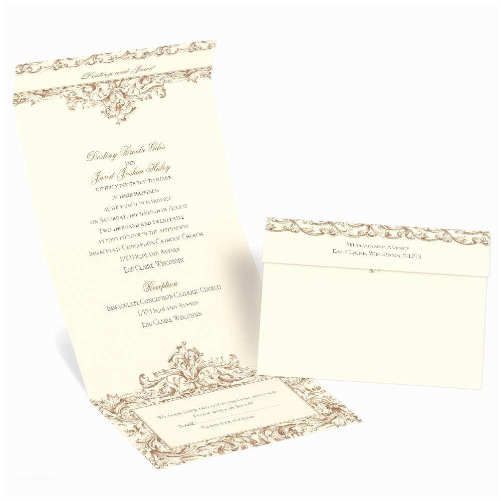 Seal and Send Wedding Invitations Victorian Romance Seal and Send Invitation