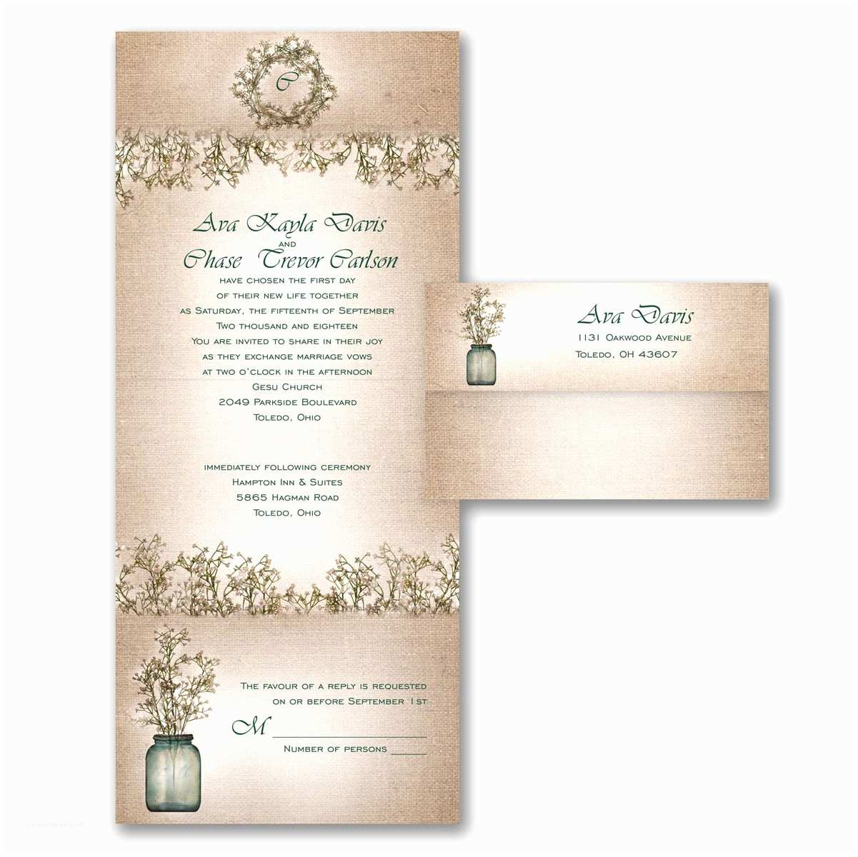 Seal and Send Wedding Invitations Vistaprint Seal and Send Wedding Invitations