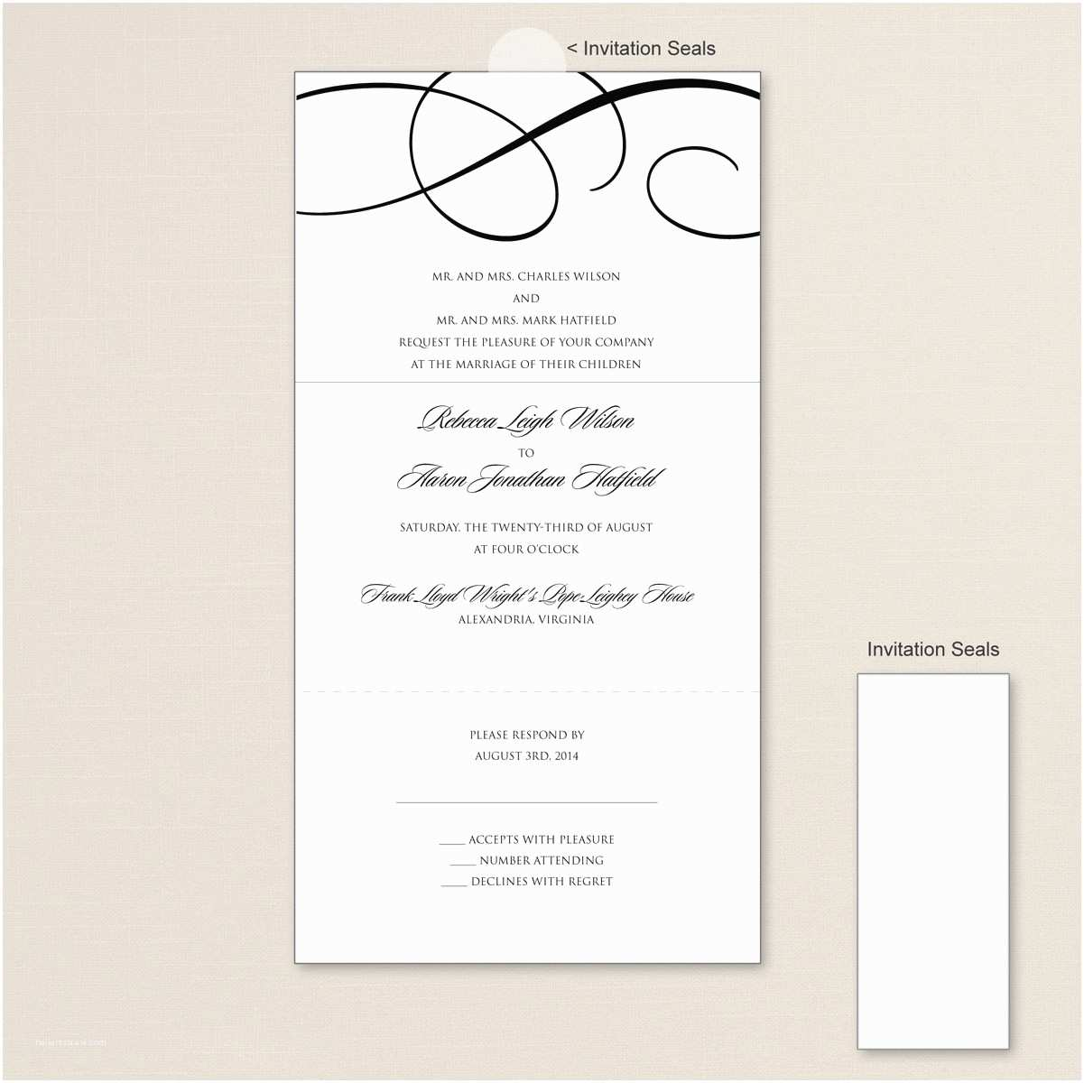 Seal and Send Wedding Invitations Vistaprint Send and Seal Wedding Invitations Templates Various