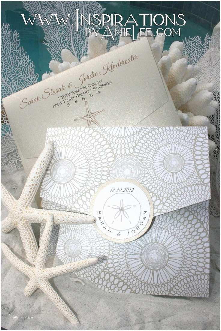 Seashell Wedding Invitations 1000 Ideas About Seashell Wedding On Pinterest