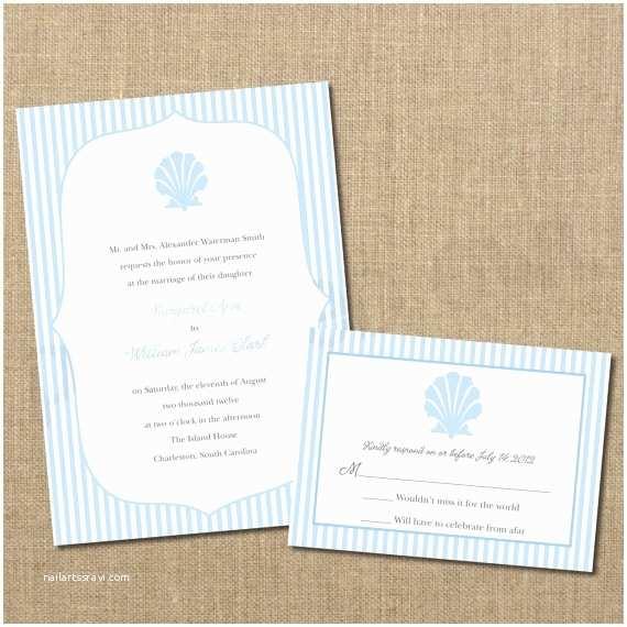 Seashell Wedding Invitations 1000 Ideas About Seersucker Wedding On Pinterest