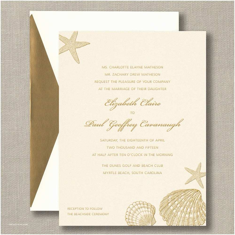 Seashell Wedding Invitations Awe Inspiring Seashell Wedding Invitations