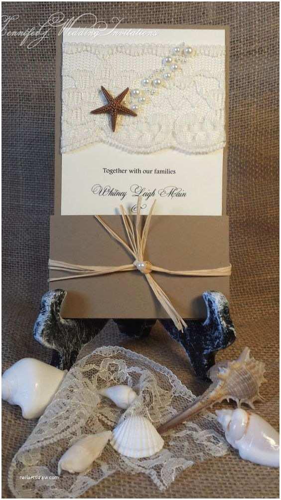 Seashell Wedding Invitations Beach Wedding Invitation Seashell Wedding Invitations