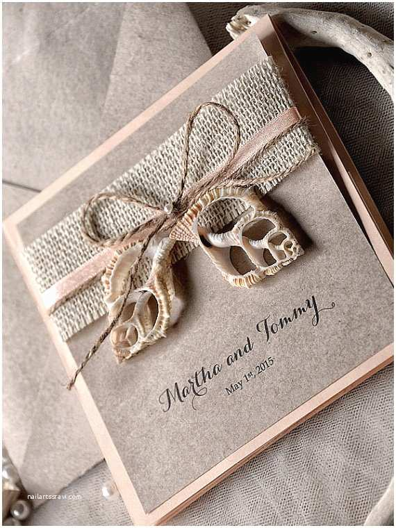 Seashell Wedding Invitations Custom Listing 100 Seashell Wedding Invitation by