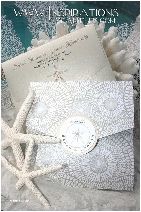 Seashell Wedding Invitations Items Similar to Seashell Wedding Invitation Beach