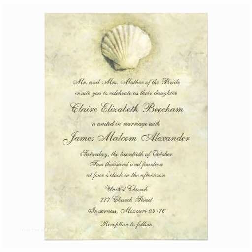 Seashell Wedding Invitations Personalized Seashell Wedding Invitations