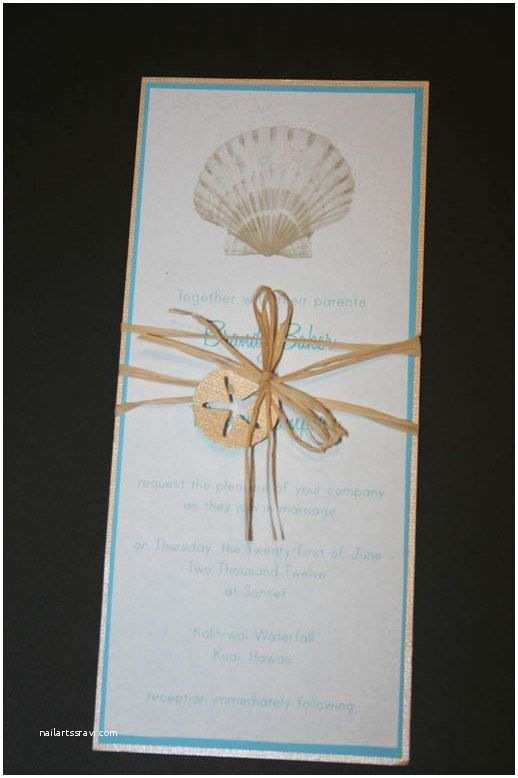 Seashell Wedding Invitations Seashell Beach Invitation by Lopazecreations On Etsy