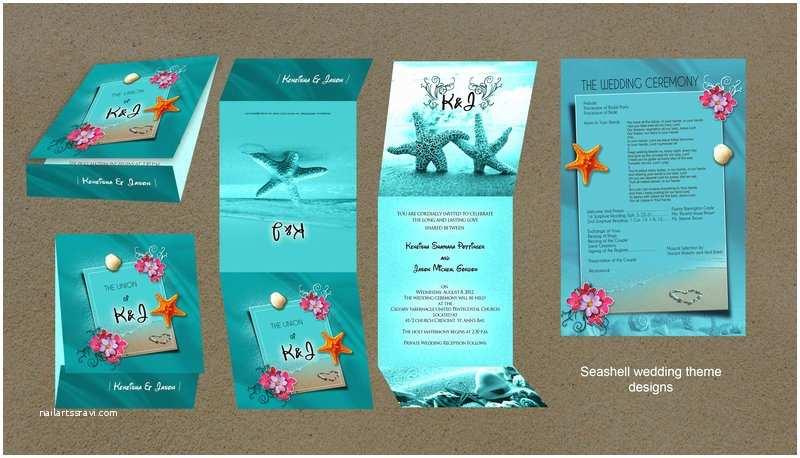 Seashell Wedding Invitations Seashell themed Wedding Invitation by Owdesigns On Deviantart