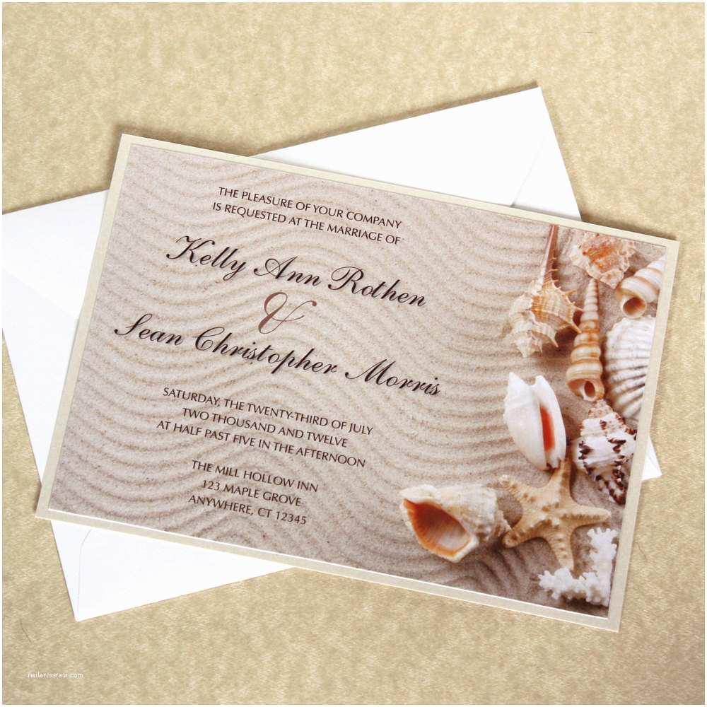 Seashell Wedding Invitations Seashell Wedding Invitation Beach Wedding by