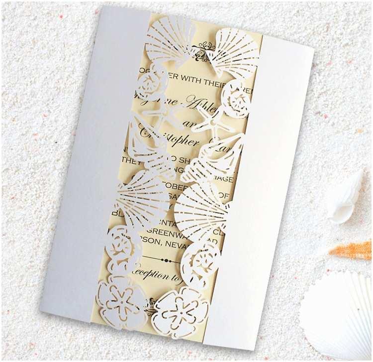 Seashell Wedding Invitations Seashells Wedding Invitations Promotion Shop for