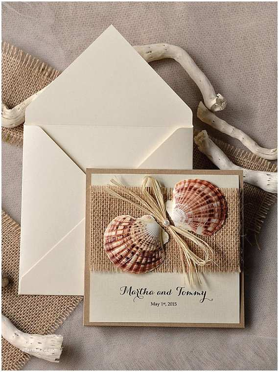 Seashell Wedding Invitations top 30 Chic Rustic Wedding Invitations From 4lovepolkadots