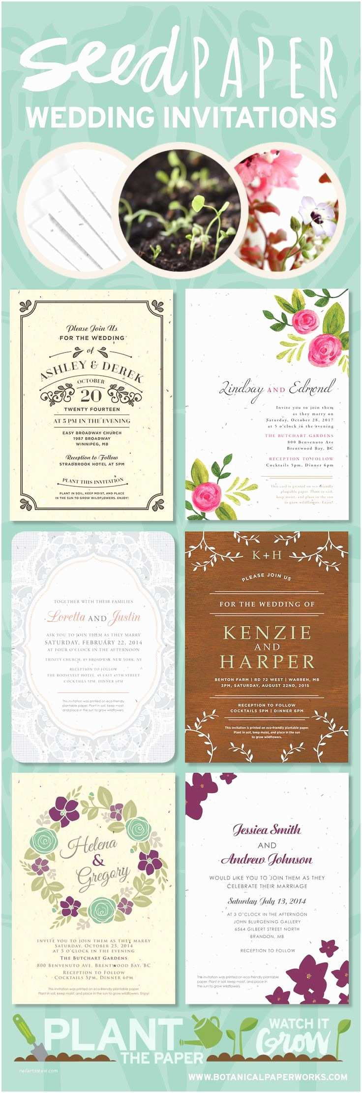 Seed Wedding Invitations 17 Best Images About Stationery On