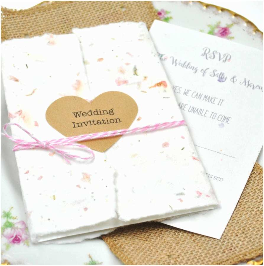Seed Wedding Invitations Eco Weddings Eco Friendly Wedding Favours And