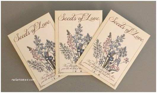 Seed Wedding Invitations Free Printable Seed Packet Wedding Favors From