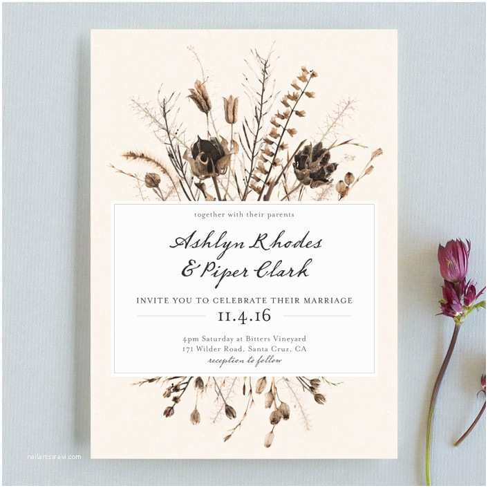 Seed Wedding Invitations Gone To Seed Wedding Invitations By Honeybunch