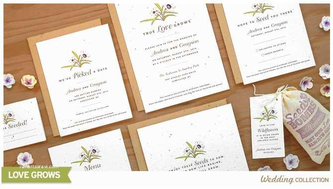 Seed Wedding Invitations Love Grows