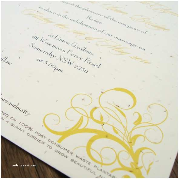 Seed Wedding Invitations Seed Paper Invitations Archives Little