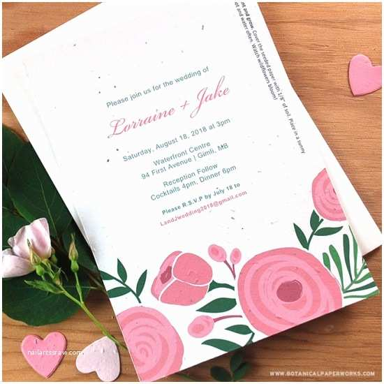 image regarding Printable Seeded Paper titled Seed Marriage ceremony Invites Printing Your Seed Paper Marriage ceremony