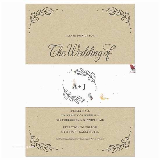 Wedding Invitations S Of Love Kraft Paper Wedding Invitations With