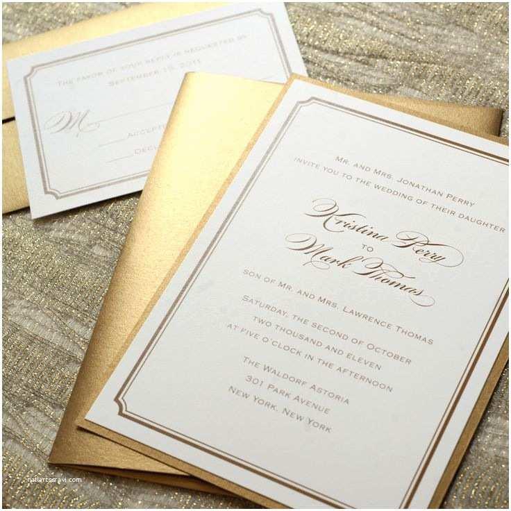 Self Made Wedding Invitations Best 25 Gold Wedding Invitations Ideas On Pinterest