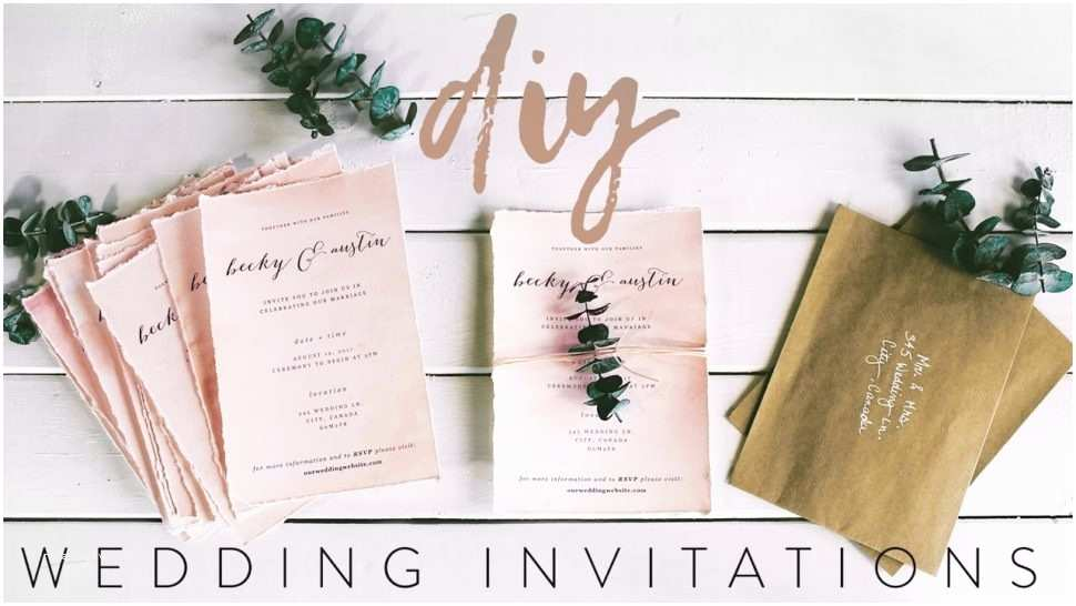 Self Made Wedding Invitations Invitation Card Types are You Struggling with Diy