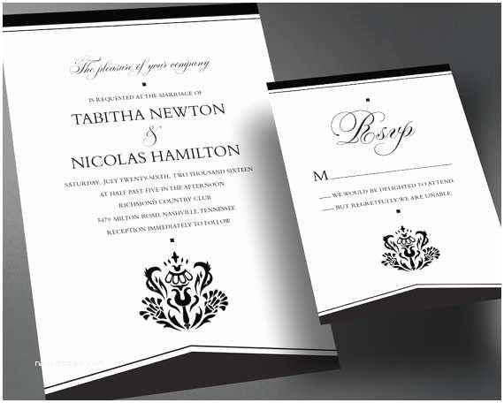 Self Made Wedding Invitations Items Similar to Wedding Invitation Pdf Printable Wedding