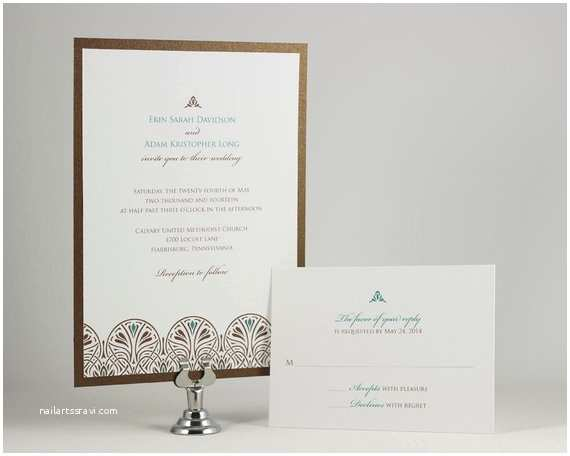 Self Made Wedding Invitations Printable Art Nouveau Wedding Invitations Digital Files