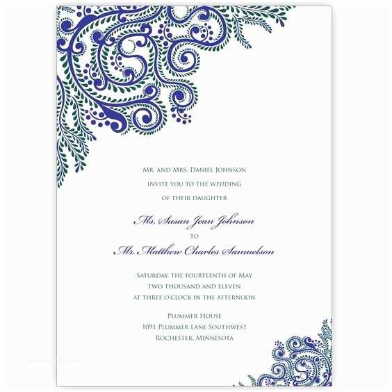 Self Made Wedding Invitations Printable Vines Indian Wedding Invitations Digital Files