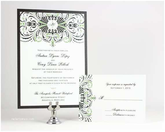 Self Made Wedding Invitations Printable Vintage Wedding Invitations Art Deco Navy