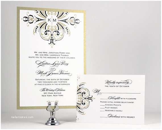 Self Made Wedding Invitations Printable Wedding Invitations Gold Wedding Invitation