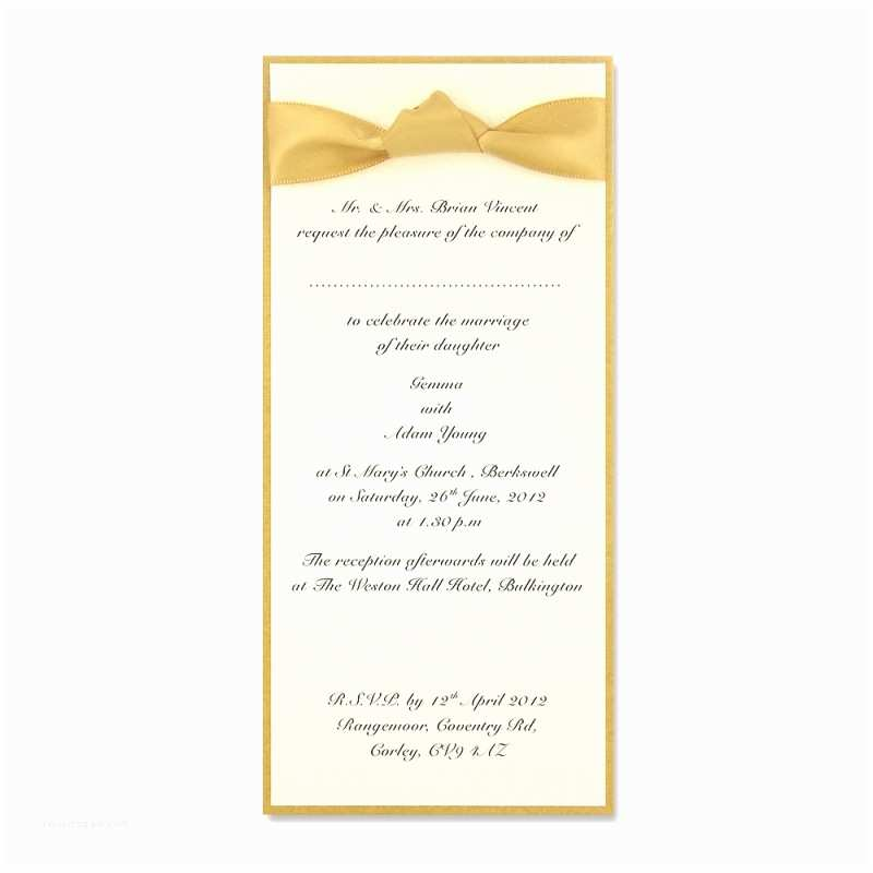 Self Made Wedding Invitations Self assembly Long Layered Ribbon Invite More Colours