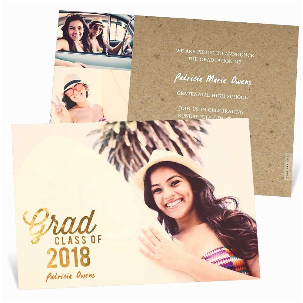 Senior Graduation Invitations Favorite Gold Foil Graduation Announcements