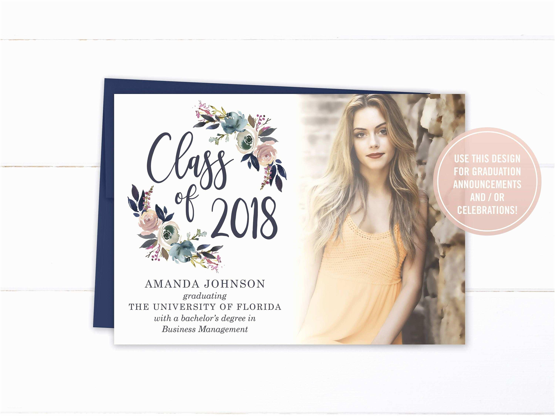 Senior Graduation Invitations Printable College Graduation Invitation Printed High