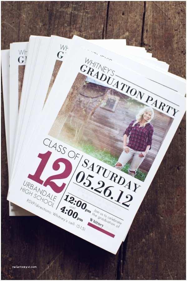 Senior Graduation Invitations Senior Graduation Announcement Template by Jamie Schultz