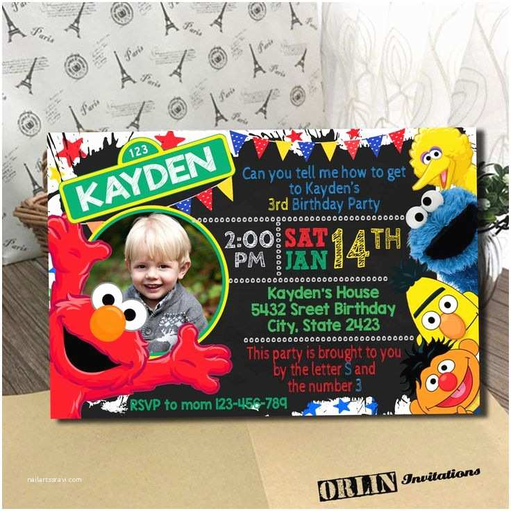 Sesame Street Birthday Invitations 1000 Ideas About Sesame Street Party On Pinterest