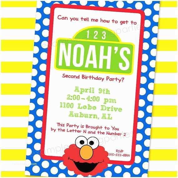 Sesame Street Birthday Invitations A Few Of My Favorite Things How to Throw the Ultimate