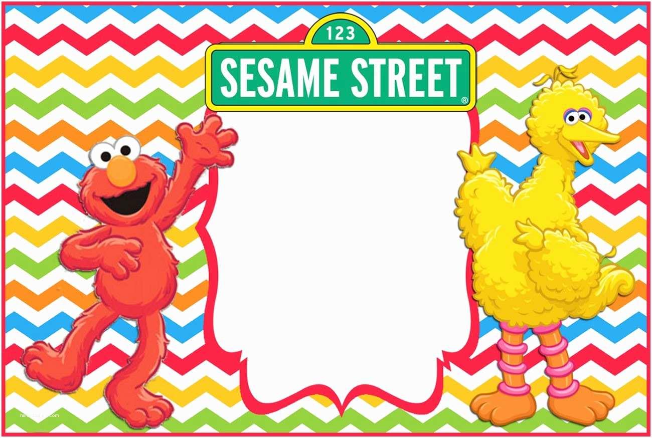 Sesame Street Birthday Invitations Free 1st Invitation Template Drevio
