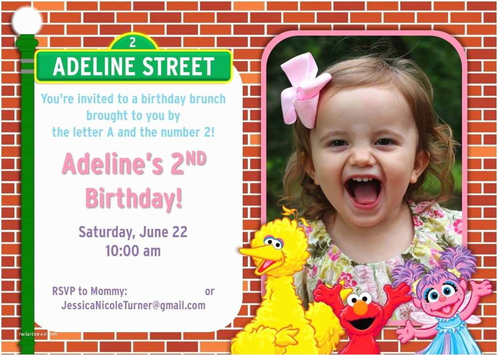 Sesame Street Birthday Invitations Party Ideas Games Food