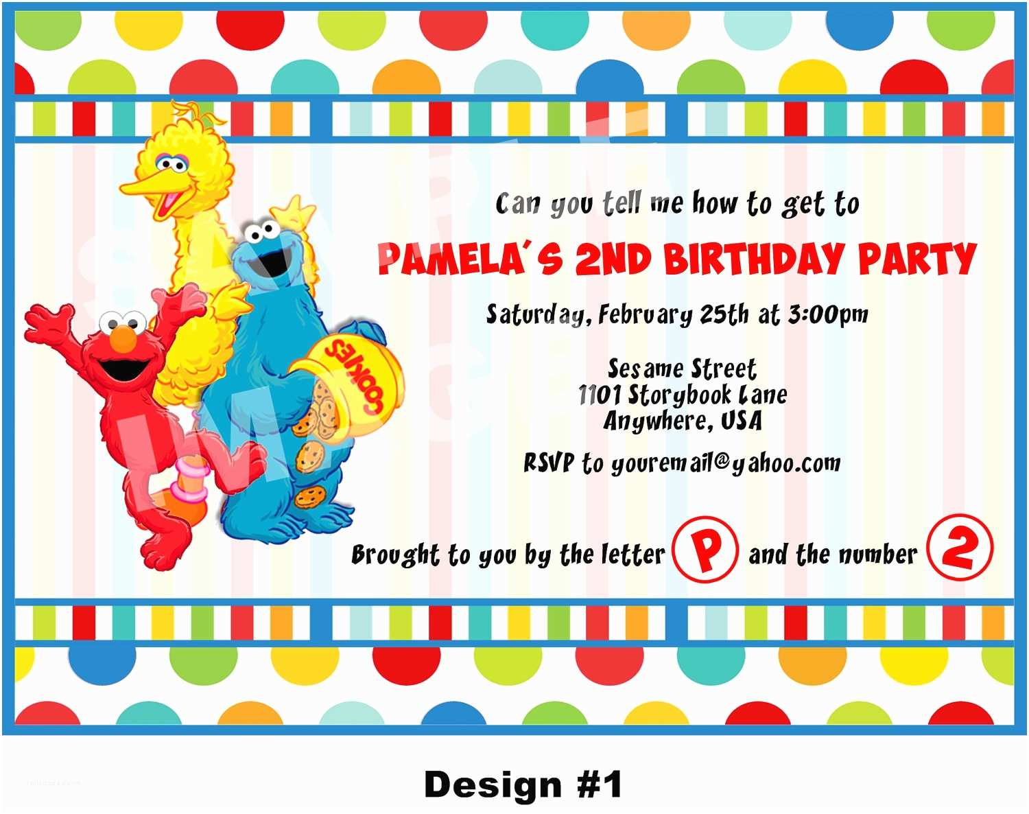 Sesame Street Birthday Invitations Invitation Elmo Cookie Monster