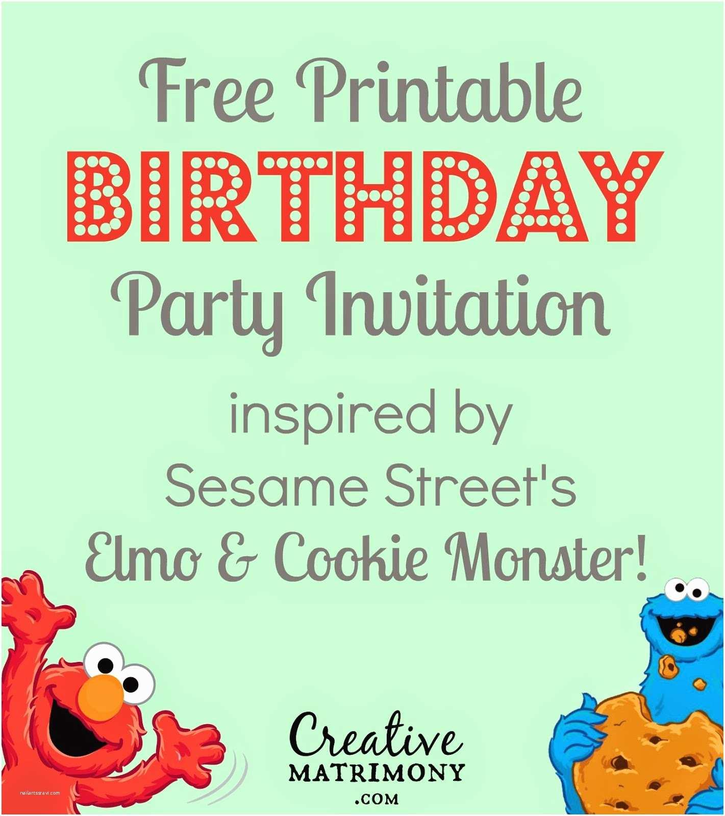 Sesame Street Party  9 Best Of Free Printable Sesame Street