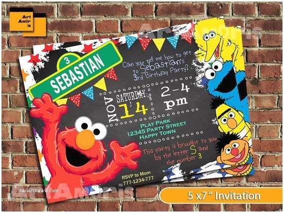 Sesame Street Party Invitations Best 25 Elmo Invitations Ideas On Pinterest