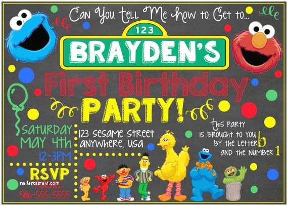 Sesame Street Party Invitations Best 25 Sesame Street Invitations Ideas On