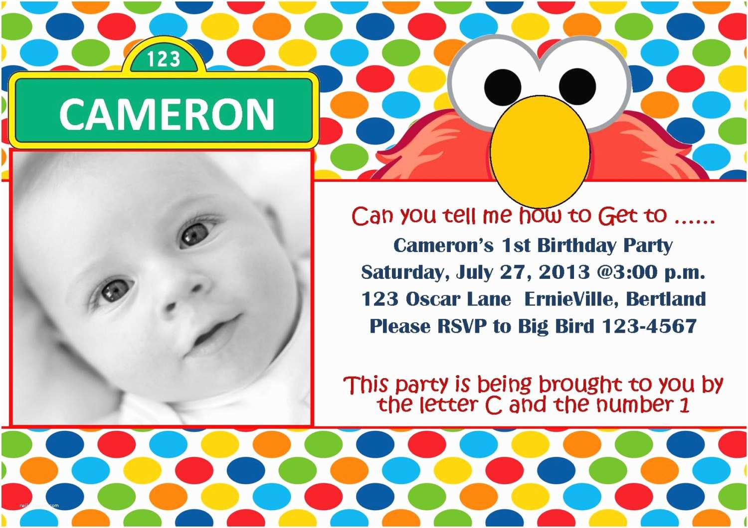 Sesame Street Party Invitations Free Printable Elmo 1st Birthday Invitations Template