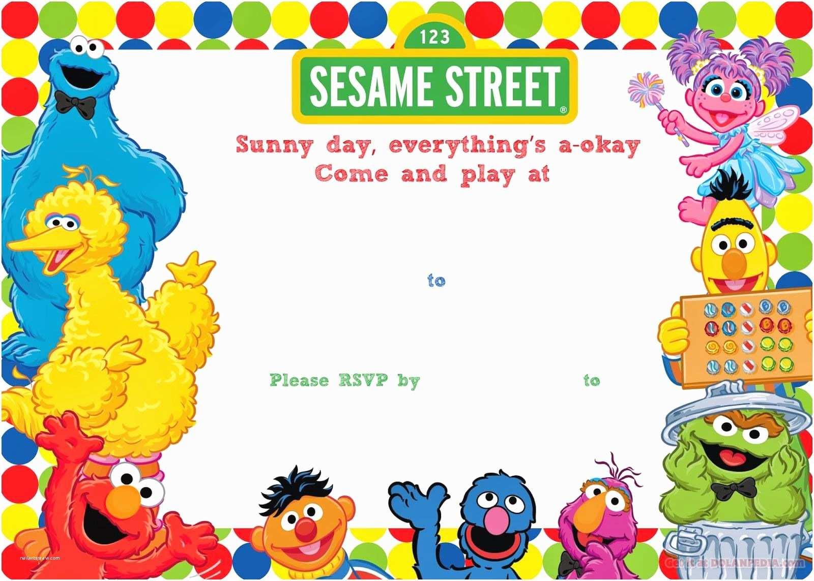 Sesame Street Party S Free Printable Sesame Street Birthday